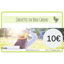 Chouette un Bon cadeau de 10€