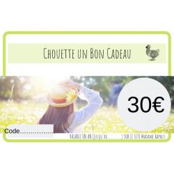 Chouette un Bon cadeau de 30€